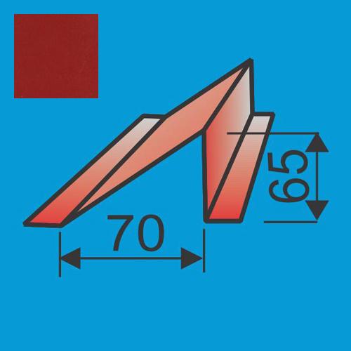 Sniego užtvara L=2000 Raudona Purpurinė poliesteris 0,5mm, vnt