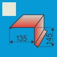 Vėjalentė 135x145 L=2000 Balta poliesteris 0,5mm, vnt