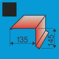 Vėjalentė 135x145 L=2000 Juoda poliesteris 0,5mm, vnt