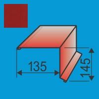 Vėjalentė 135x145 L=2000 Raudona Purpurinė poliesteris 0,5mm, vnt
