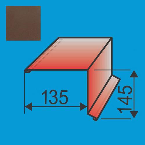 Vėjalentė 135x145 L=2000 Ruda poliesteris 0,5mm, vnt