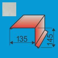 Vėjalentė 135x145 L=2000 Sidabrinė poliesteris 0,5mm, vnt