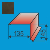 Vėjalentė 135x145 L=2000 Tamsiai Ruda poliesteris 0,5mm, vnt