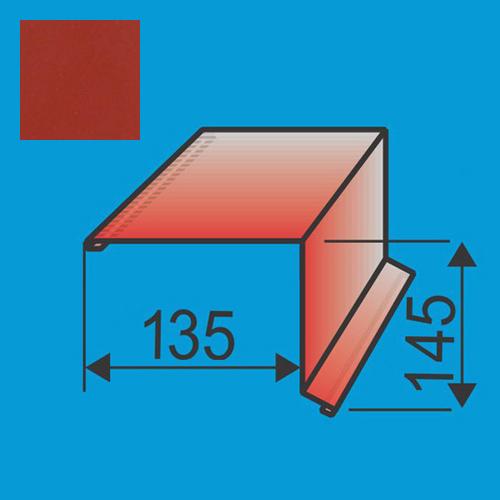Vėjalentė 135x145 L=2000 Raudona Vyšnia poliesteris 0,5mm, vnt