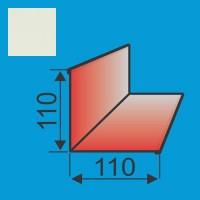 Vidinis kampas 110x110 L=2000 Balta poliesteris 0,5mm, vnt