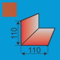 Vidinis kampas 110x110 L=2000 Raudona Molio poliesteris 0,5mm, vnt