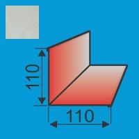 Vidinis kampas 110x110 L=2000 Sidabrinė poliesteris 0,5mm, vnt