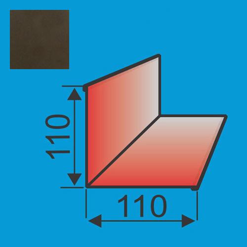 Vidinis kampas 110x110 L=2000 Tamsiai Ruda poliesteris DP 0,5mm, vnt