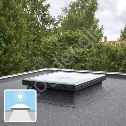 Velux CFP langas plokščiam stogui LYGIU stiklu 60x60 NEVARSTOMAS