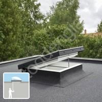 Velux CVP langas plokščiam stogui LYGIU stiklu 60x60 RANKINIS VARSTYMAS