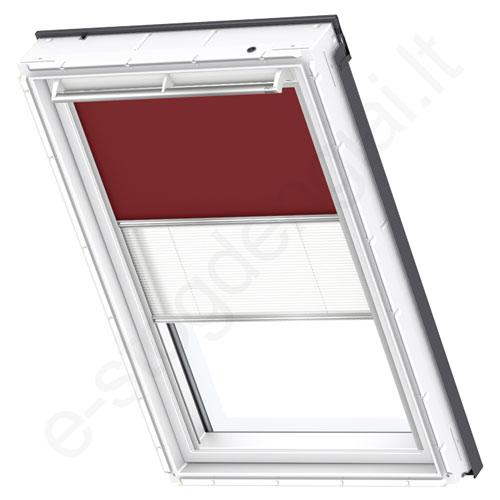 Velux tamsinanti klostuota DFD PK04 4560 Dark red stilius
