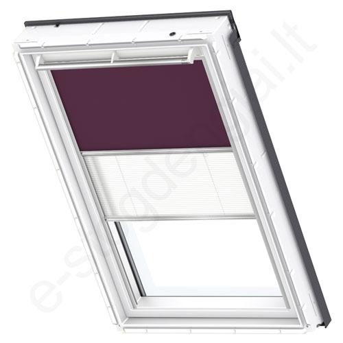 Velux tamsinanti klostuota DFD PK04 4561 Dark purple stilius