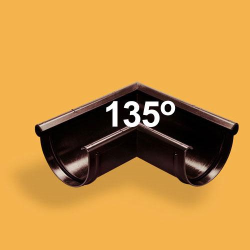 Latako išorinis kampas 135° 100/75 Baltas (Ral 9010) Wavin Kanion, vnt